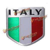 Италия флаг сплава металла Автогонки спорт эмблема значок Наклейка