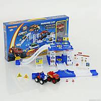 Игровой набор для мальчиков от 3 лет Гараж ZY-653, 2 этажа, спуск, 2 машинки Blaze