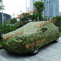 Камуфляж ткань оксфорд три окна автомобиля крышка пыленепроницаемый устойчивым к царапинам ВС размер блока SML