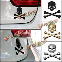 Автомобиль 3D скелета кости черепа эмблема значка логотип металл наклейка