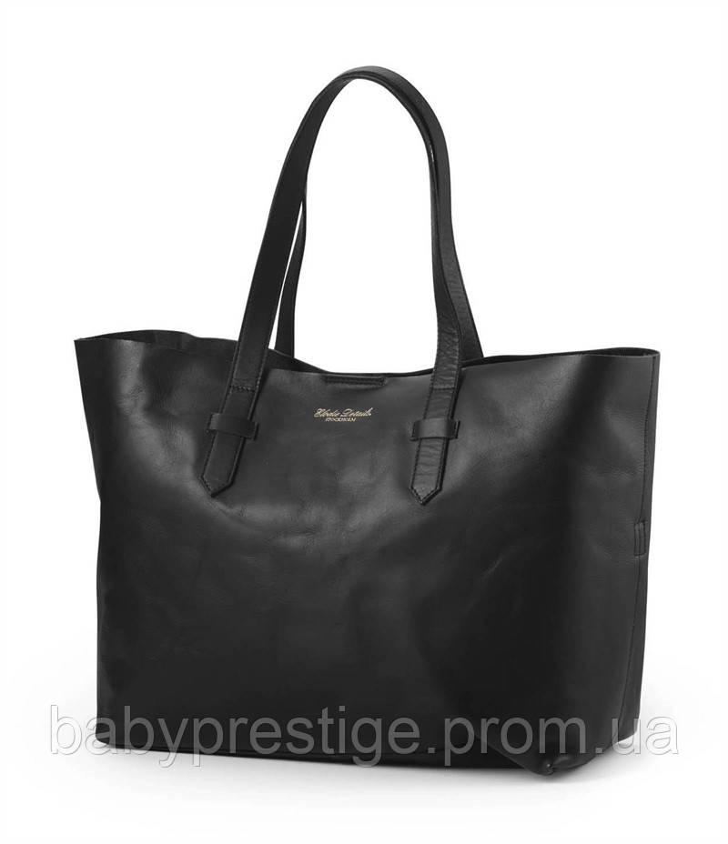Elodie details сумка для мам - Black Leather (кожаная)
