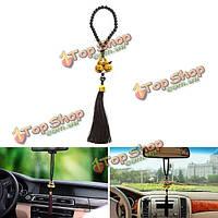Двойной тыквы талисманом кулон кистями вид сзади автомобиля зеркало вешалка украшения