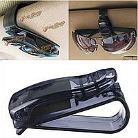 Автомобиль козырек очки солнцезащитные очки билетов держателя карты клип универсальный черный