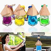 Ромбовидные стеклянные автомобильные украшения духов автомобильный персиковый аромат поставки