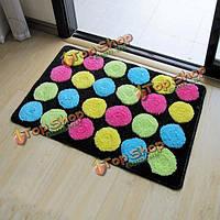Красочный круг абсорбент двери ванной коврики коврики противоскользящие ножки