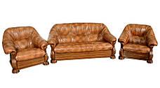 Кожаное классическое кресло Монарх (105 см), фото 3