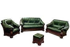 Кожаное классическое кресло Монарх (105 см), фото 2