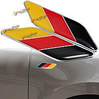2шт 3D немецкий флаг наклейка значок эмблемы деколь декора для автомобиля грузовик велосипеда ноутбук