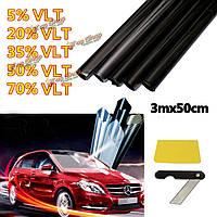 3mx50см автомобиль авто домой оконное стекло Пленка для тонирования тонировка LVT ультра лимузин темно-черный