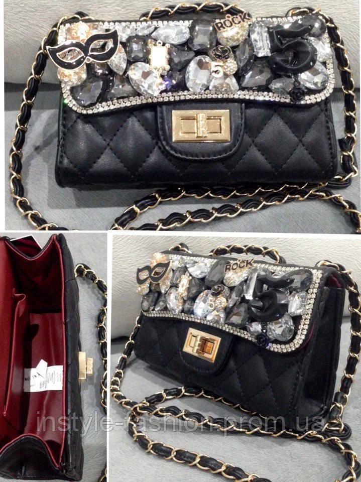 b15555f1ca33 Женский клатч черный с камнями: купить недорого копия продажа, цена ...