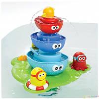 Игрушка для купания малышей водопад D 40115, 3 кораблика-пирамидки, 2 человечка, насос