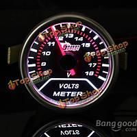2-дюйма 52мм универсальная авто красный LED напряжения автомобиля Volt калибровочных метр 8 18В