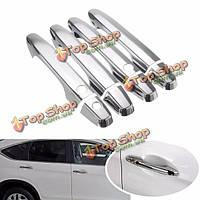 Двери автомобиля ручки заглушки отделкой хром комплект для Honda CR-V 2012-2015 2013 2014
