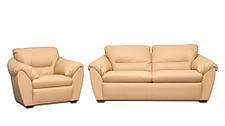 Стильне шкіряне крісло ЕЛЕГІЯ (120 см), фото 2