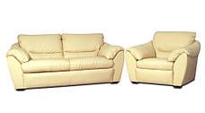 Стильное кожаное кресло ЭЛЕГИЯ (120 см), фото 3