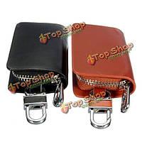 Натуральная кожа автомобиль авто брелок для ключей брелок для ключа портативный мешок случая бумажника