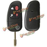 4 кнопки пульта дистанционного перевернуть брелока дистанционный ключ для Jaguar S-Type XJ8 X-Type с аккумулятором
