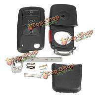 Автомобиль 4 кнопки дистанционный ключ черный корпус кейс флип режиссерский лезвие для VW Touareg 2004-2011