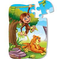 """Пазл на магните «Тигр и обезьяна» """"VT3205-10"""