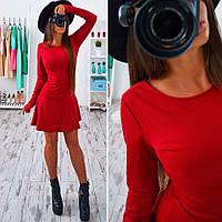 Купить красивое, стильное платье с длинным рукавом красное