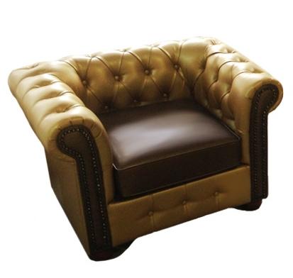 Стильное кожаное кресло САН-РЕМО (125 см)