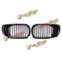 Спереди черный глянец м-Цвет почек гриль решетка радиатора для BMW 3series 02-05