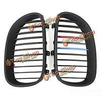 Матовый черный почек решетки радиатора для BMW е60 5 серии седан 03-09