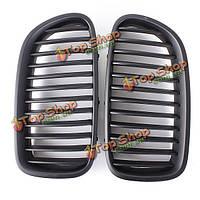 Передний матовый черный гриль-решетки для БМВ ф10 5 серии седан 10-14