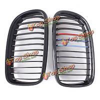 Матовый черный M цвет почек гриль решетка радиатора для BMW 3-серии E90/e91 09-11