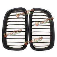 Матовая черная широкая стойка почек гриль-решетки для BMW 1 серии 11-14
