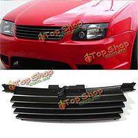 Матовый черный капот решетка переднего без опознавательных знаков гриль для VW Jetta бора mk4 1999-2004