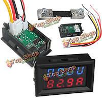Цифровой LED вольтметр амперметр ампер вольт метр токового шунта 100А dc200v