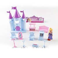 Замок 1107-08 (96шт) принцессы, 23см, мебель, кукла 10см,  2 вида, в кульке, 21,5-31-6см
