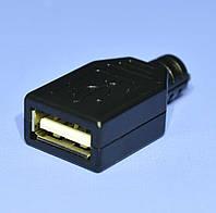 Гнездо USB-А на кабель с корпусом  4-0028