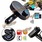 Автомобильное зарядное устройство беспроводной передатчик FM модулятор MP3-плеер громкой связи с функцией Bluetooth, фото 2
