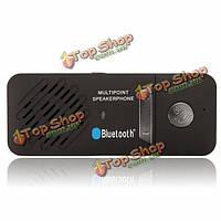 Портативный многоточечной беспроводной Bluetooth автомобильный комплект громкой связи динамик телефона солнцезащитный козырек