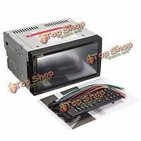 Двойной 2 гама 7inch автомобиля Bluetooth сенсорный экран DVD CD MP4-плеер FM-радио AUX / SD / USB
