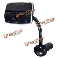 X9 беспроводной ЖК-FM передатчик модулятор автомобильный комплект MP3-плеер SD USB + пульт дистанционного управления с функцией Bluetooth  система