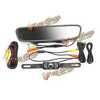 Автомобиль заднего вида комплект резервного камера заднего вида IR 4.3-дюймовый TFT-LCD зеркало монитор +