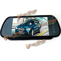 7-дюймов TFT LCD  широкий экран зеркало заднего вида монитор + автомобильный комплект обратная парковки вид сзади