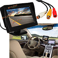 4.3-дюйма ЖК-rearview автомобиля монитор обратном комплект камеры DVD видеомагнитофон
