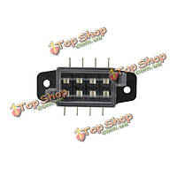 JZ5501 Jiazhan Car 4 Way Air Condition Fuse Box Circuit Protect Fuse Block Holder Clear Cover