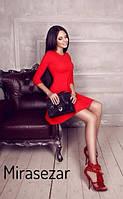Молодежное расклешенное платье MiraSezar красное