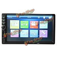 7-дюймов 720p HD 2 дин касания автомобиля громкой связи вызова экран mp5 AUX в FM-USB с функцией Bluetooth  система