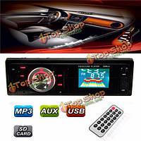 Автомобиль автомобиль радио mp3 музыкальный плеер стерео в тире FM-USB вход AUX сд приемника