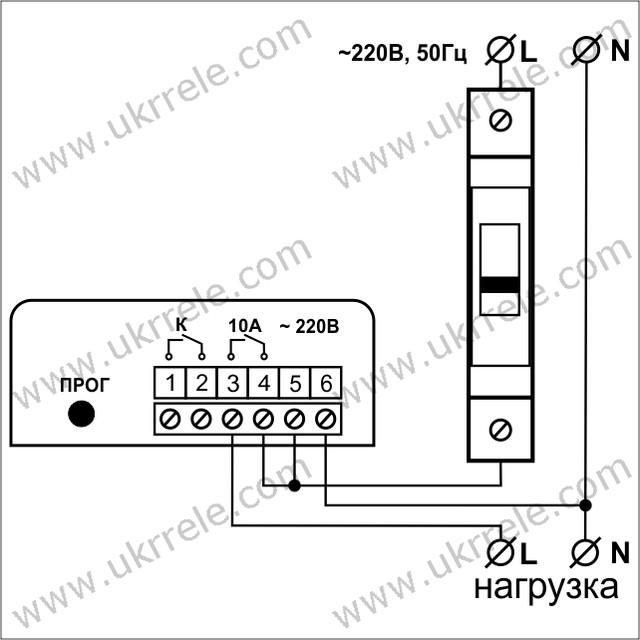 Схема подключения реле задержки выключения РВЗ-10/Н