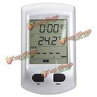 Беспроводная метеостанция Датчик дождя автоматически Комнатный термометр