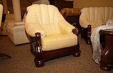 Класичне шкіряне крісло ADAM (90 см), фото 2