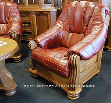 Класичне шкіряне крісло ADAM (90 см), фото 3