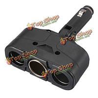 3 способ зарядное гнездо разделитель автомобильное зарядное устройство адаптер прикуривателя